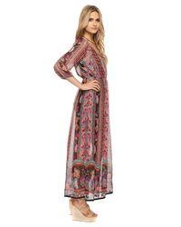 Forever 21 Pink Boho Floral Maxi Dress