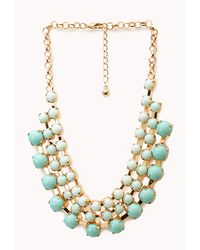 Forever 21 | Green Opulent Layered Bib Necklace | Lyst