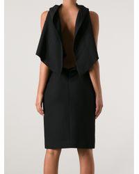 Gareth Pugh Black Cowl Neck Dress
