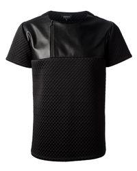 Giuliano Fujiwara Black Neoprene Tshirt for men