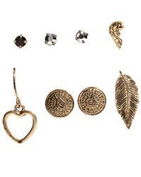 H&M Metallic 6-pack Earrings