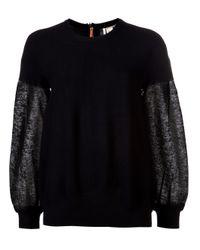 Il by Saori Komatsu | Black Zip Pull Sweater | Lyst