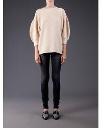 Il by Saori Komatsu | Natural Puff Sleeves Sweater | Lyst