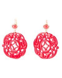 Kenneth Jay Lane | Pink Oriental Earrings | Lyst