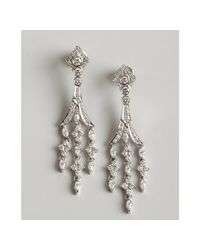 Kwiat | White Gold and Diamond Chandelier Earrings | Lyst