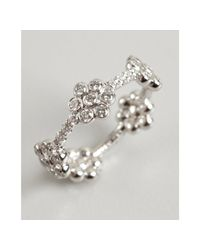 Kwiat - White Gold and Diamond Daisy Ring - Lyst