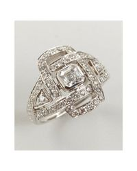 Kwiat | Metallic White Gold and Diamond Solaris Ring | Lyst