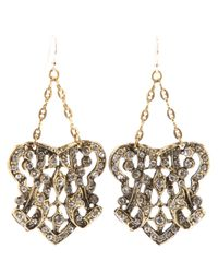 Lulu Frost | Metallic Crest Earrings | Lyst