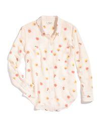 Madewell Multicolor Silk Boyshirt