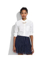 Madewell White Oversized Cotton-poplin Shirt