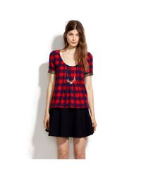 Madewell Red Shop Tee