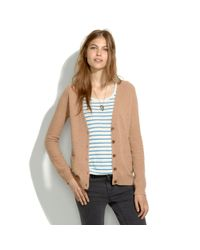 Madewell Brown Journal Cardigan