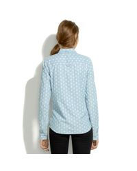 Madewell Blue Floralbud Chambray Shirt