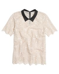 Madewell Natural Collar Lace Top