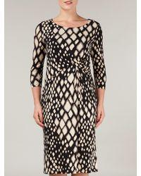 Precis Petite Black Animal Print Jersey Dress