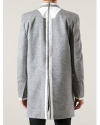 Rad By Rad Hourani Gray Contrast Trim Tunic for men