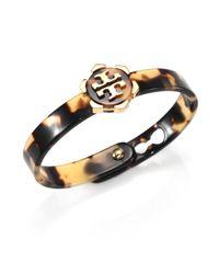 Tory Burch | Orange Tortoise Look Logo Bracelet | Lyst
