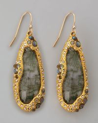 Alexis Bittar | Gray Moss Agate Teardrop Earrings | Lyst