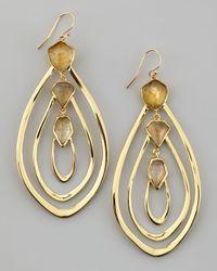 Alexis Bittar Metallic Large Orbiting Aura Fancy Labradorite Earrings