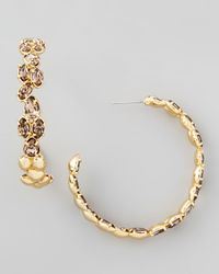 Alexis Bittar | Miss Havisham Oscillating Metallic Hoop Earrings | Lyst
