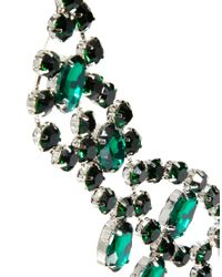 ASOS Green Curve Premium Jewelled Bib Necklace