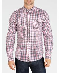 Ben Sherman Blue The House Mod Fit Woven Shirt for men