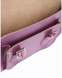 ASOS Purple Cambridge Satchel Company Exclusive To 11 Lavender Leather Satchel