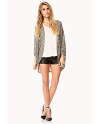 Forever 21 - Gray Textured Dolman Cardigan - Lyst
