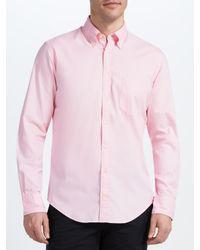 GANT Pink Oxford Long Sleeve Shirt for men