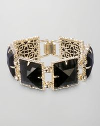 Kendra Scott - Electra Faceted Bracelet Black - Lyst