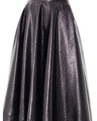 Lulu & Co - Black Metallic Full Pleated Skirt - Lyst