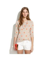 Madewell Natural Dotstitch Sweater