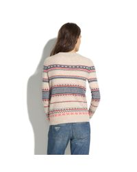 Madewell Natural Fair Isle Striped Sweater
