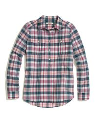 Madewell Pink Plaid Popover