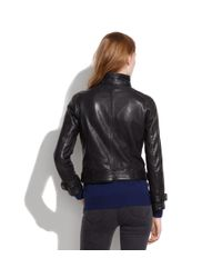 Madewell Black Belted Leather Bomber