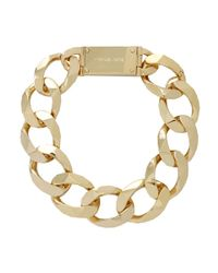 Michael Kors - Metallic Oversize Chain Collar Necklace - Lyst