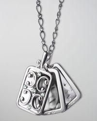 Monica Rich Kosann - Metallic Rectangular Gate Pendant Necklace - Lyst