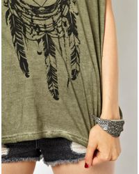 ASOS - Metallic Religion Wing Cuff Bracelet - Lyst