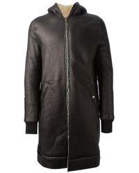 Rick Owens Brown Lambs Fur Coat for men