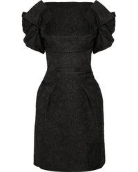 Roland Mouret   Black Diana Brocade Dress   Lyst