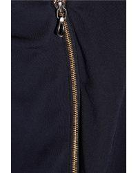 Roland Mouret Blue Henleigh One-shoulder Crepe Gown