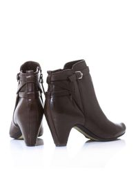 Sam Edelman   Brown Maddox Leather Ankle Boots   Lyst