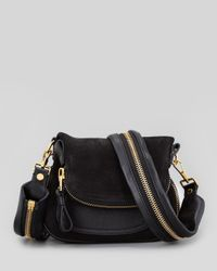 Tom Ford | Jennifer Suede Mini Crossbody Bag Black | Lyst