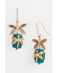 Tory Burch | Metallic Dragonfly Drop Earrings | Lyst