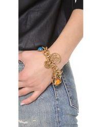 Tory Burch Metallic Winslow Multi Charm Bracelet