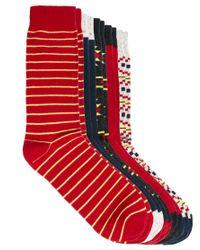 Humor - Red Urban Eccentric 5 Pack Flex Socks for Men - Lyst