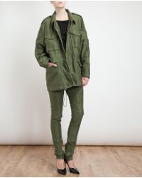 3.1 Phillip Lim Green Knitted Military Jacket