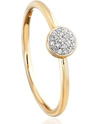 Astley Clarke | Metallic Mini Icon Yellow-gold And Diamond Ring | Lyst