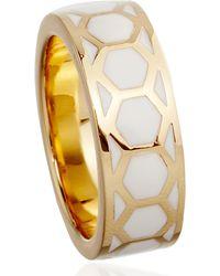 Astley Clarke | Metallic Prismic Sea Shell Honeycomb Ring | Lyst