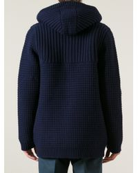 Bark Blue Bark Chunky Knit Cardigan for men